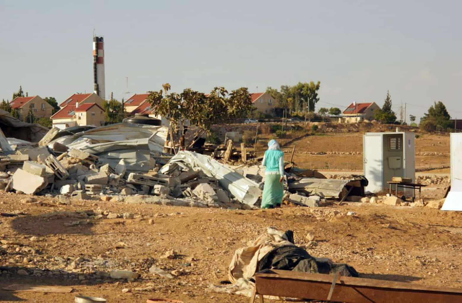 Home demolitions in Um al-Khair.