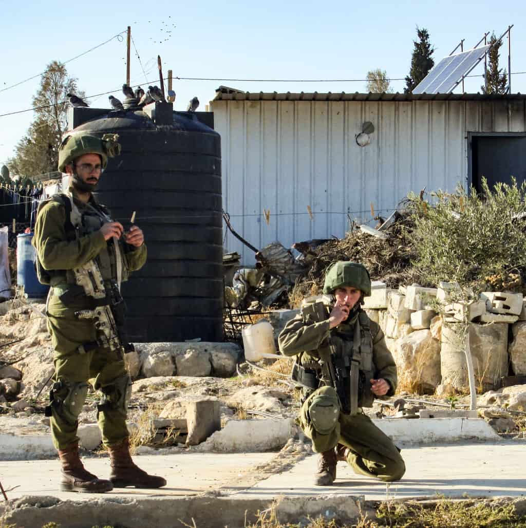 Israeli soldiers in Um al-Khair